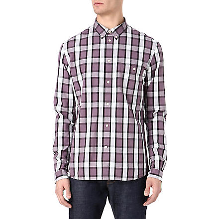 PAUL SMITH JEANS Check and dot jacquard shirt (Pink