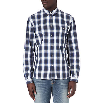 PAUL SMITH JEANS Checked polka-dot shirt (Navy