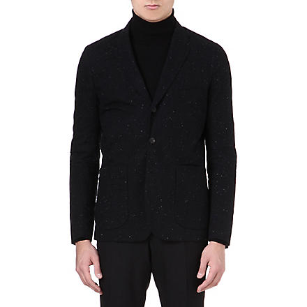 PAUL SMITH JEANS Single-breasted speckled jacket (Black