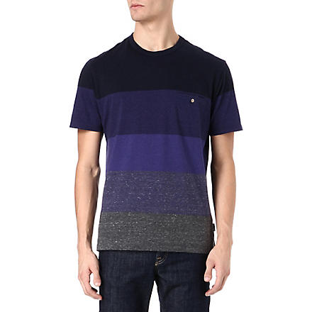 PAUL SMITH JEANS Block stripe t-shirt (Blue