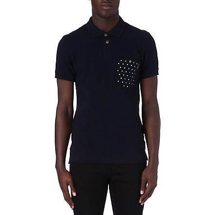 PAUL SMITH JEANS Spot pocket polo shirt (Navy
