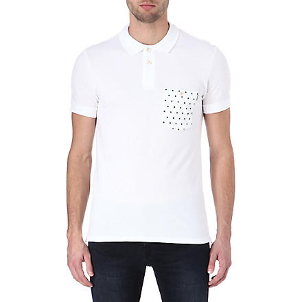 PAUL SMITH JEANS Spot pocket polo shirt (White