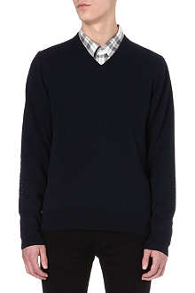 PAUL SMITH JEANS Polka-dot embroidered elbow jumper