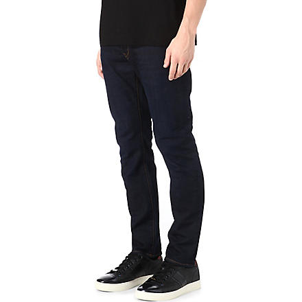 PAUL SMITH JEANS Slim-fit straight overdyed jeans (Blue