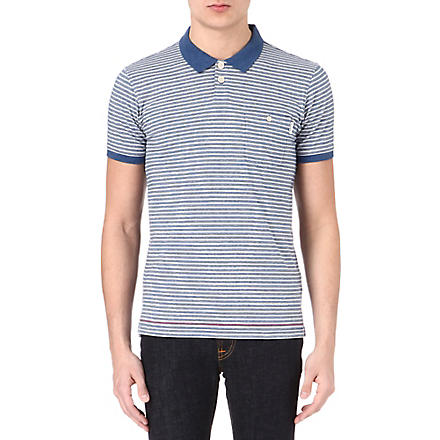 PAUL SMITH JEANS Striped polo shirt (Blue