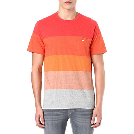 PAUL SMITH JEANS Block stripe t-shirt (Red