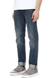 PAUL SMITH JEANS Tapered selvedge-denim jeans