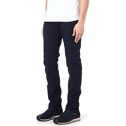 PAUL SMITH JEANS Overdyed regular-fit tapered jeans (Navy