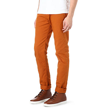 PAUL SMITH JEANS Overdyed slim-fit tapered jeans (Orange