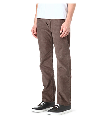 PAUL SMITH JEANS Regular-fit corduroy trousers (Grey