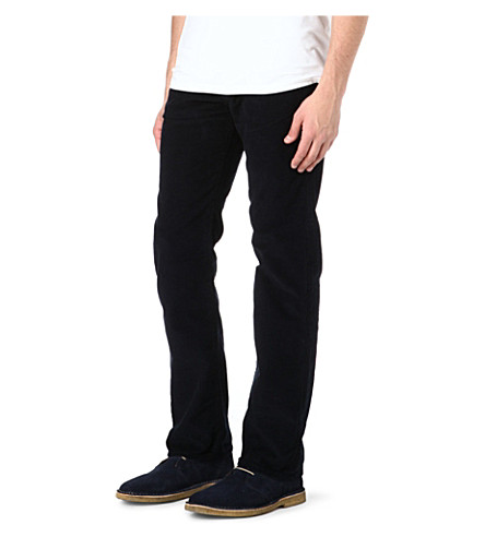 PAUL SMITH JEANS Regular-fit corduroy trousers (Navy