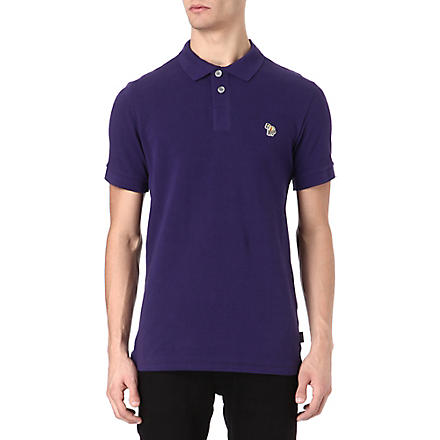 PAUL SMITH JEANS Zebra logo polo shirt (Purple