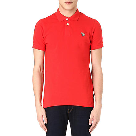PAUL SMITH JEANS Zebra logo polo shirt (Red