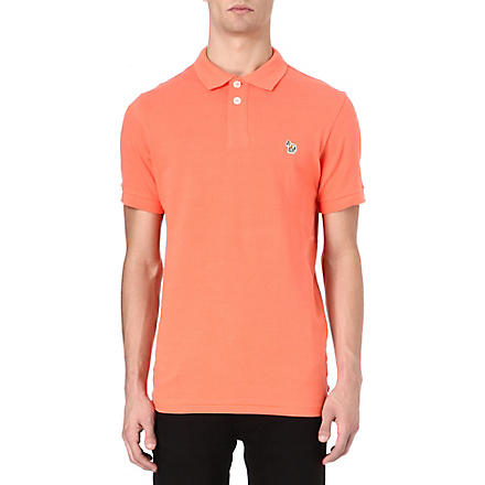 PAUL SMITH JEANS Zebra logo polo shirt (Pink
