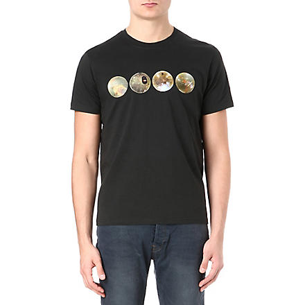 PAUL SMITH JEANS Globe cotton-jersey t-shirt (Black