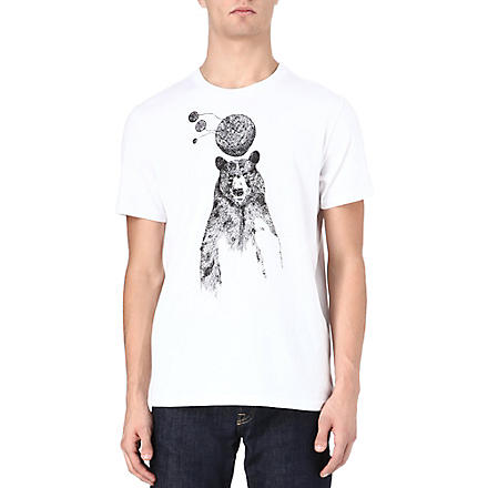 PAUL SMITH JEANS Bear print t-shirt (White