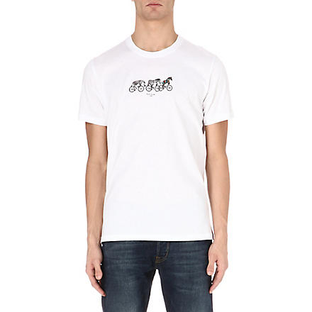 PAUL SMITH JEANS Cycling Zebra t-shirt (White
