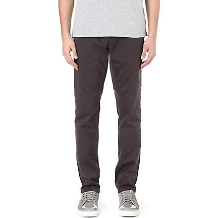 PAUL SMITH JEANS Tapered carrot chino trousers (Grey
