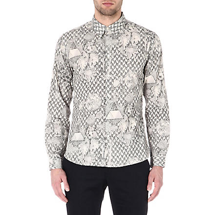 PAUL SMITH JEANS Bear-print shirt (Ecru
