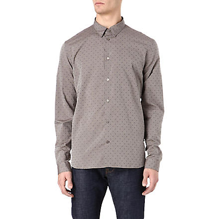 PAUL SMITH JEANS Dot jacquard shirt (Brown