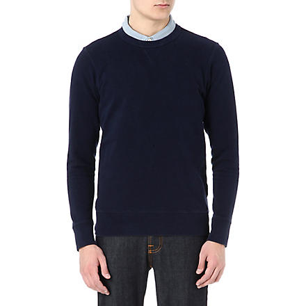 PAUL SMITH JEANS Washed crew-neck sweatshirt (Navy