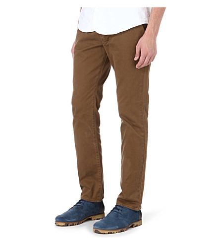 PAUL SMITH JEANS Colombian tapered-fit chino trousers (Tan