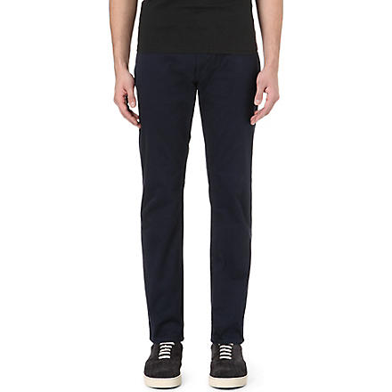 PAUL SMITH JEANS Colombian tapered-fit chino trousers (Navy