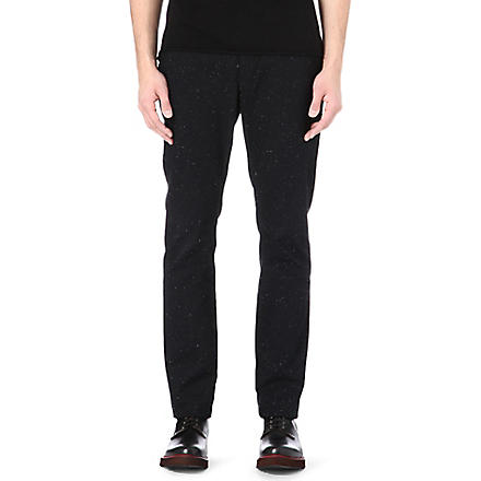 PAUL SMITH JEANS Speckled trousers (Black
