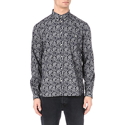 PAUL SMITH JEANS Geometric-print shirt (Indigo