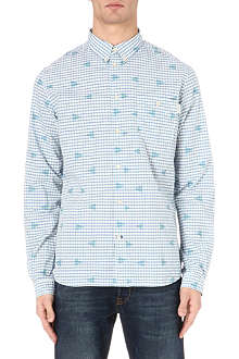 PAUL SMITH JEANS Triangle-print checked shirt