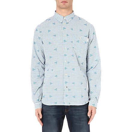 PAUL SMITH JEANS Triangle-print checked shirt (Blue