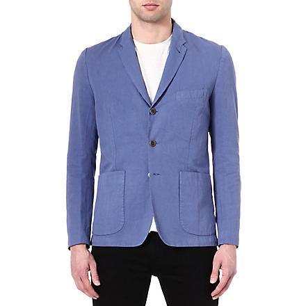 PAUL SMITH JEANS Cotton and linen-blend blazer (Blue