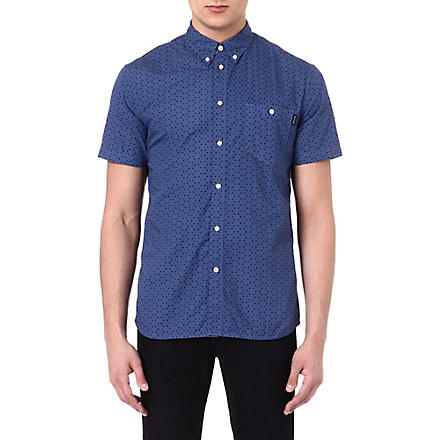 PAUL SMITH JEANS Tiny triangle-print shirt (Blue