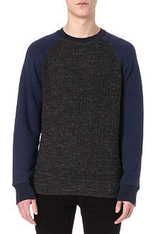 PAUL SMITH JEANS Textured raglan sweatshirt