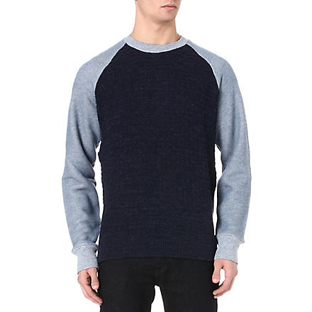 PAUL SMITH JEANS Textured knit jumper (Navy