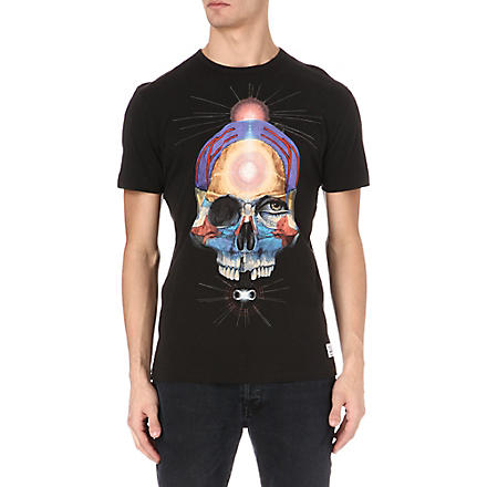 PAUL SMITH JEANS Skull-print t-shirt (Black