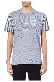 PAUL SMITH JEANS Splatter on stripes t-shirt