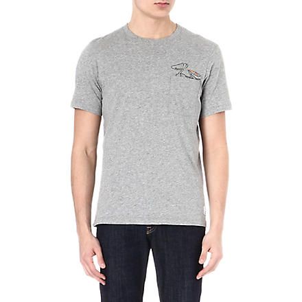 PAUL SMITH JEANS Rabbit-print pocket t-shirt (Grey