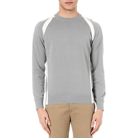 PAUL SMITH JEANS Strap detail knitted jumper (Grey