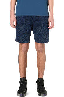 PAUL SMITH JEANS Leopard print denim shorts