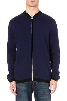 PAUL SMITH JEANS Herringbone zip-up cardigan
