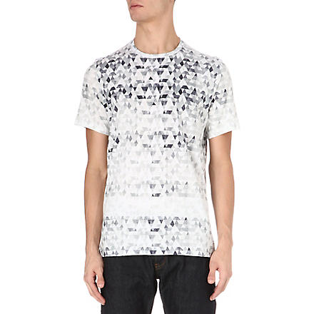 PAUL SMITH JEANS Triangle-print t-shirt (Black