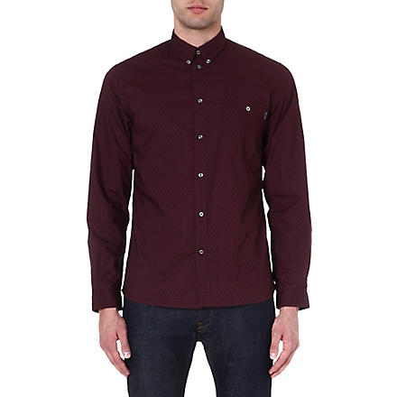 PAUL SMITH JEANS Paisley-print cotton shirt (Damson
