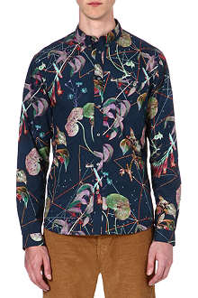PAUL SMITH JEANS Tailored-fit botanical floral print shirt