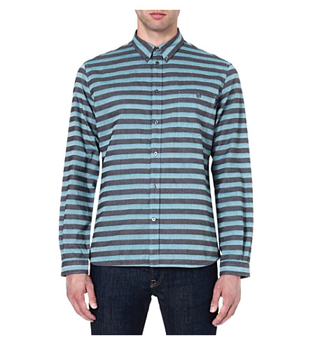 PAUL SMITH JEANS Horizontal striped shirt (Turq