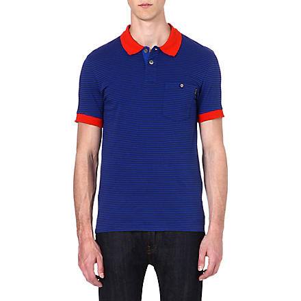 PAUL SMITH JEANS Striped polo shirt (Indigo