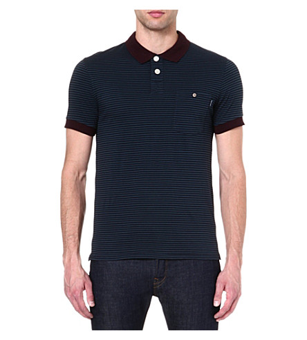 PAUL SMITH JEANS Striped polo shirt (Navy