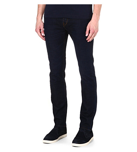 PAUL SMITH JEANS Tapered slim-fit jeans (Black
