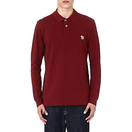 PAUL SMITH JEANS Zebra long-sleeved polo shirt (Red