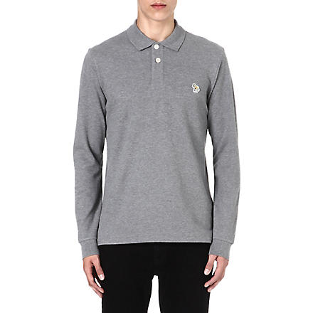 PAUL SMITH JEANS Zebra long-sleeved polo shirt (Grey